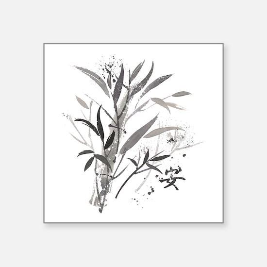 "Bamboo Garden Square Sticker 3"" x 3"""