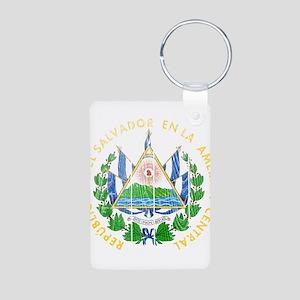 El Salvador Coat Of Arms Aluminum Photo Keychain