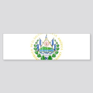 El Salvador Coat Of Arms Sticker (Bumper)