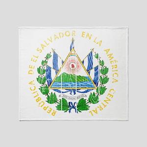 El Salvador Coat Of Arms Throw Blanket
