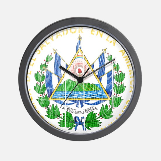 El Salvador Coat Of Arms Wall Clock