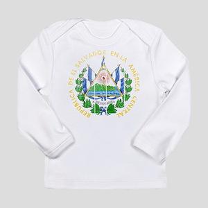 El Salvador Coat Of Arms Long Sleeve Infant T-Shir
