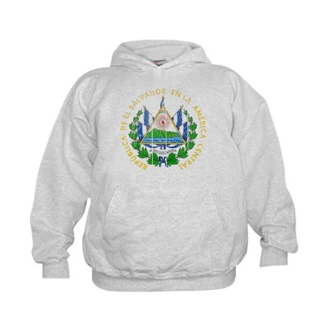 El Salvador Coat Of Arms Kids Hoodie