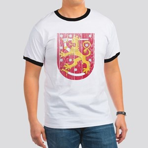 Finland Coat Of Arms Ringer T