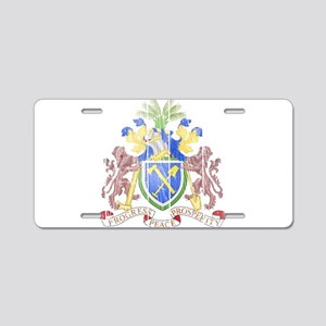 Gambia Coat Of Arms Aluminum License Plate