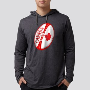 Canadian Rugby Ball Mens Hooded Shirt
