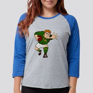Springboks Rugby Player Womens Baseball Tee