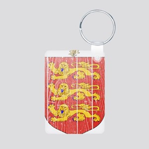 Guernsey Coat Of Arms Aluminum Photo Keychain