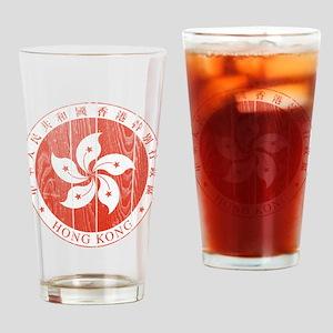 Hong Kong Coat Of Arms Drinking Glass