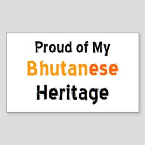 bhutanese heritage Sticker (Rectangle)