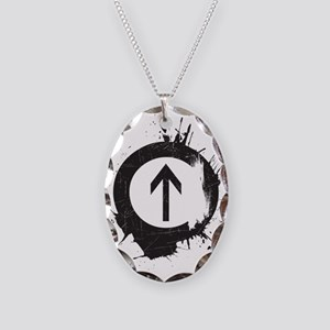 Above Drugs Necklace Oval Charm