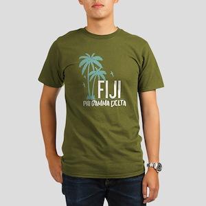 Phi Gamma Delta Palms Organic Men's T-Shirt (dark)
