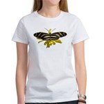 BLack & White Butterfly Women's T-Shirt