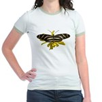 BLack & White Butterfly Jr. Ringer T-Shirt