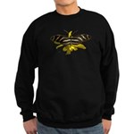 BLack & White Butterfly Sweatshirt (dark)