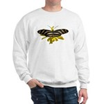 BLack & White Butterfly Sweatshirt
