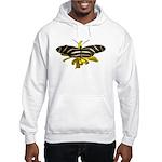 BLack & White Butterfly Hooded Sweatshirt