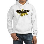 BLack & White Butterfly Hooded Sweatshirt