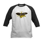 BLack & White Butterfly Kids Baseball Jersey