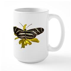 BLack & White Butterfly Large Mug