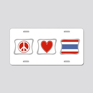 Peace Love and Thailand Aluminum License Plate