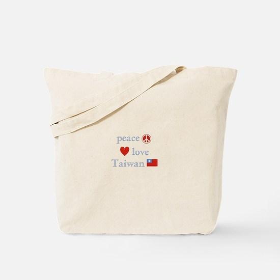 Peace Love and Taiwan Tote Bag