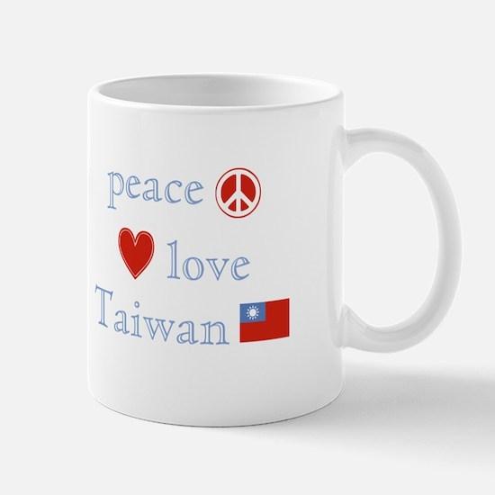 Peace Love and Taiwan Mug