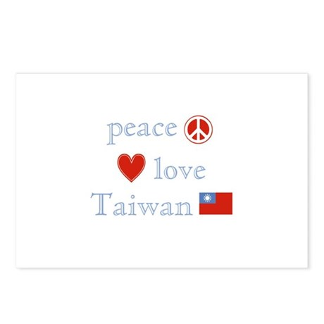 Peace Love and Taiwan Postcards (Package of 8)