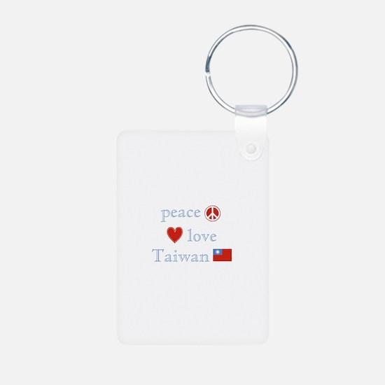 Peace Love and Taiwan Keychains