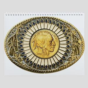 Indian gold oval 1 Wall Calendar