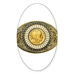 Indian gold oval 1 Sticker (Oval)