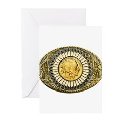 Indian gold oval 1 Greeting Cards (Pk of 10)