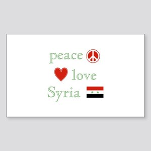 Peace Love and Syria Sticker (Rectangle)
