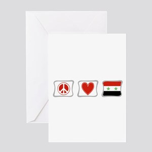Peace Love and Syria Greeting Card