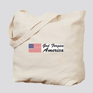 God Forgive America Tote Bag