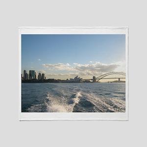 Sydney Harbour Waves Throw Blanket