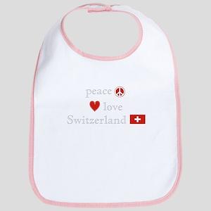 Peace Love and Switzerland Bib