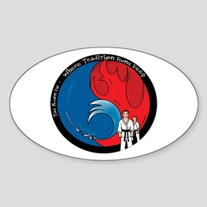 Martial Arts Oval Sticker