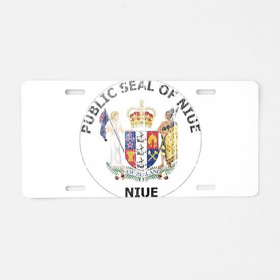 Niue Coat Of Arms Aluminum License Plate