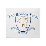 TEN BROECK LOGO_hi r#104C2E.JPG Throw Blanket