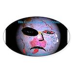 change the world Sticker (Oval 50 pk)