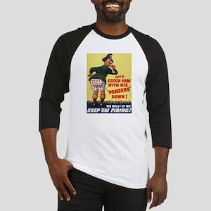 World War II Patriotic Poster Baseball Jersey