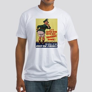 World War II Patriotic Poster Fitted T-Shirt