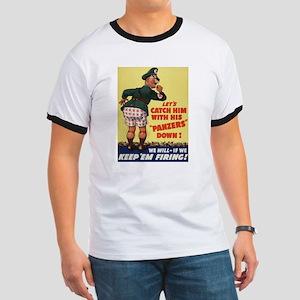 World War II Patriotic Poster Ringer T