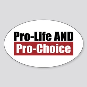 Pro-Life Pro-Choice Oval Sticker