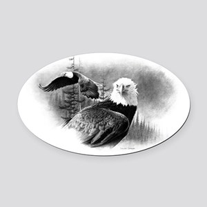 Eagles Oval Car Magnet