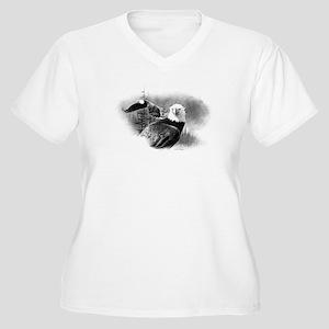 Eagles Women's Plus Size V-Neck T-Shirt