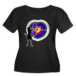 Archery5 Women's Plus Size Scoop Neck Dark T-Shirt