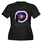 Archery5 Women's Plus Size V-Neck Dark T-Shirt