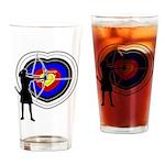 Archery5 Drinking Glass